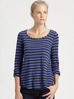 Splendid - Striped Scoopneck Tee