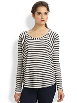 Splendid - Striped Thermal Tee