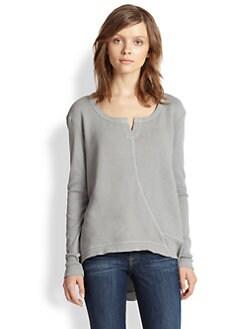 Wilt - Asymmetrical Paneled Cotton French Terry Sweatshirt