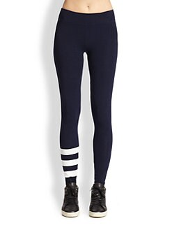 SUNDRY - Striped-Leg Leggings