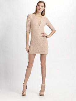 Nightcap Clothing - Deep V Lace Dress