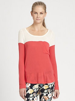Splendid - Colorblock Boatneck Top