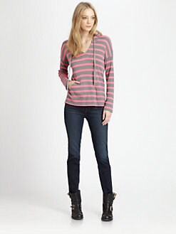 Splendid - Striped Hooded Pullover