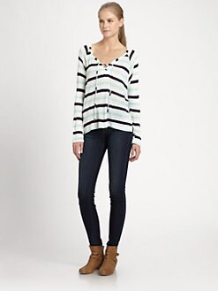 Splendid - Lace-Up Raglan Top