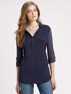 Splendid - Shirting Collar Top