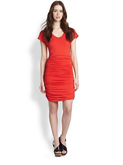 Splendid - Ruched Stretch Jersey Dress