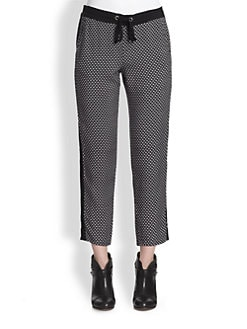 Splendid - Harbor Cropped Geometric-Print Track Pants