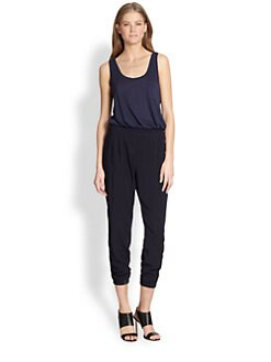 Splendid - Mixed-Fabric Jumpsuit