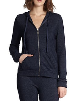 Splendid - French Terry Zip-Front Hooded Sweatshirt