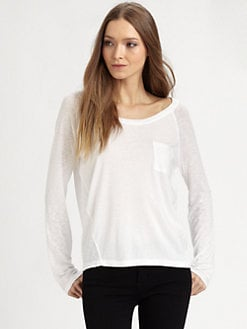 Splendid - Boxy Pocket Top