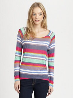 Splendid - Striped Boatneck Top