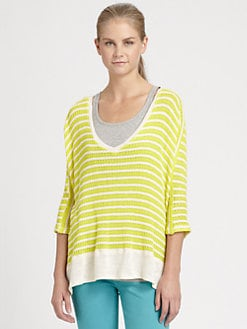 Splendid - Boxy V-Neck Top