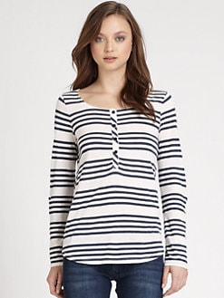 Splendid - Striped Henley Top