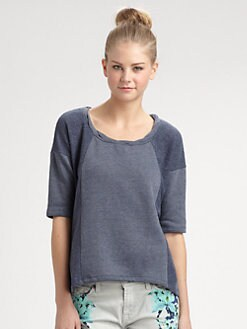 Splendid - Boxy Seamed Top