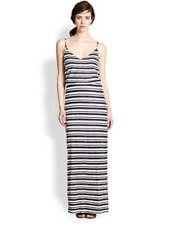 Splendid - Eyelet Striped Maxi Dress