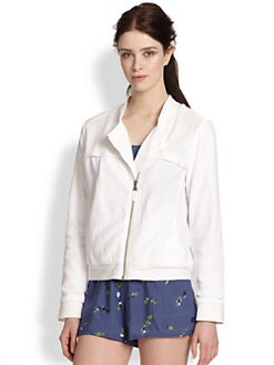 Splendid - Textured Cotton Moto Jacket