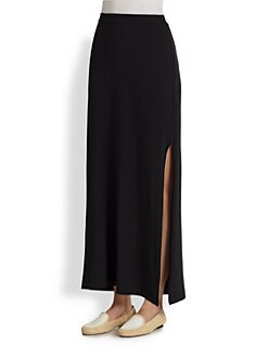 Splendid - High-Slit Stretch Jersey Maxi Skirt