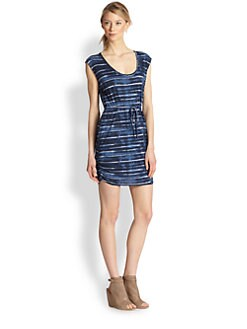 Soft Joie - Jute Tie-Dye Striped Cotton Dress