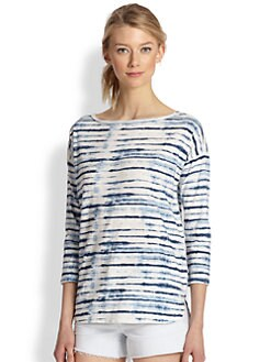 Soft Joie - Nash Tie-Dye Striped Tee
