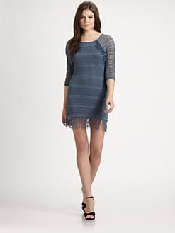 Nightcap Clothing - Fringe Lace Raglan Dress