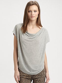 Splendid - Draped Cowlneck Tee
