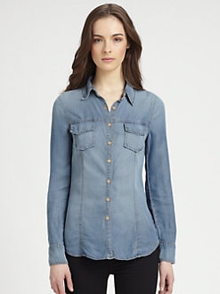 Splendid - Washed Indigo Chambray Shirt
