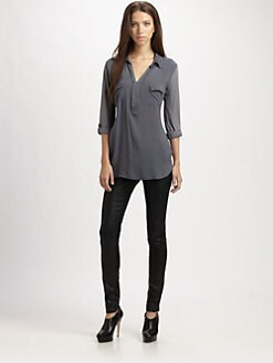 Splendid - Henley Shirting Top