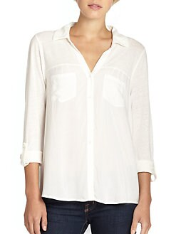 Soft Joie - Brady Button-Front Combo Shirt
