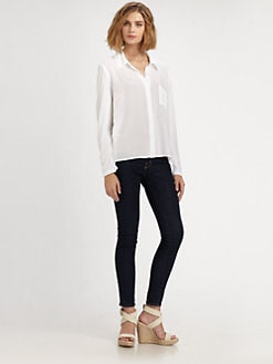 Splendid - Hi-Low Button-Down Top
