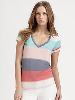 Splendid - Mirage Striped V-Neck T-Shirt