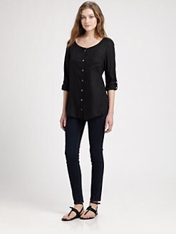 Soft Joie - Kaeri Roll Tab Blouse