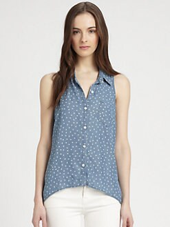 Splendid - Printed Chambray Blouse