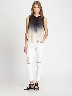 Young Fabulous & Broke - Caliente Ombré Chiffon Top