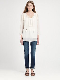 Soft Joie - Dallis Gauze Eyelet Top