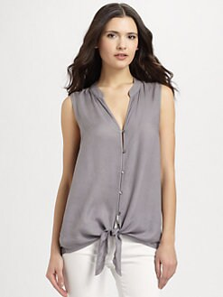 Soft Joie - Fanning Twill Tie Top