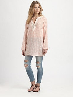 Soft Joie - Carney Printed Cotton Voile Top