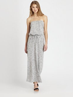 Soft Joie - Cristabel Strapless Heathered Jersey Maxi Dress