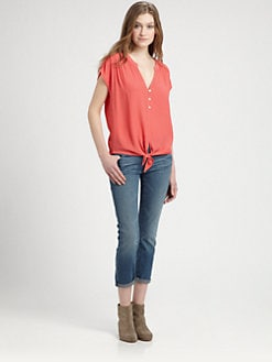 Soft Joie - Chally Tied-Waist Top