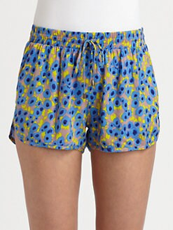 Splendid - Watercolor Floral Shorts