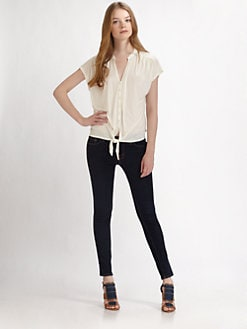 Soft Joie - Baxter Short-Sleeve Tie Top
