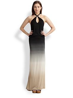 Young Fabulous & Broke - Tegan Ombre Halter Maxi Dress
