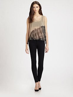Raquel Allegra - Sheer Tie-Dyed Silk Blouse