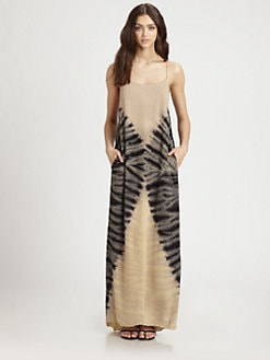 Raquel Allegra - Tie-Dyed Silk Maxi Dress