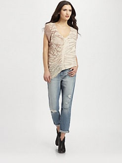 Raquel Allegra - Shredded Tie-Dyed T-Shirt