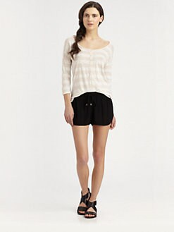 Splendid - Slub Knit Striped Henley