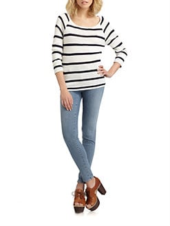 Soft Joie - Dayla Nautical Stripe Top
