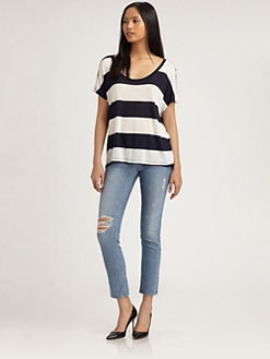 Soft Joie - The Annek Striped Dolman Tee