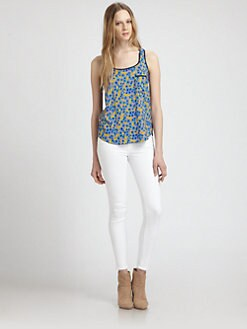 Splendid - Cornflower Sleeveless Blouse