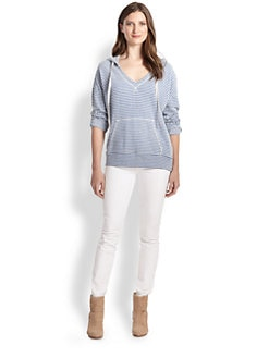 Soft Joie - Evita Striped Jersey Hoodie