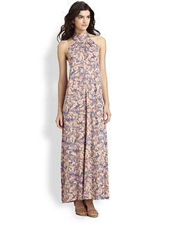 Rachel Pally - Halter Scoopback Maxi Dress